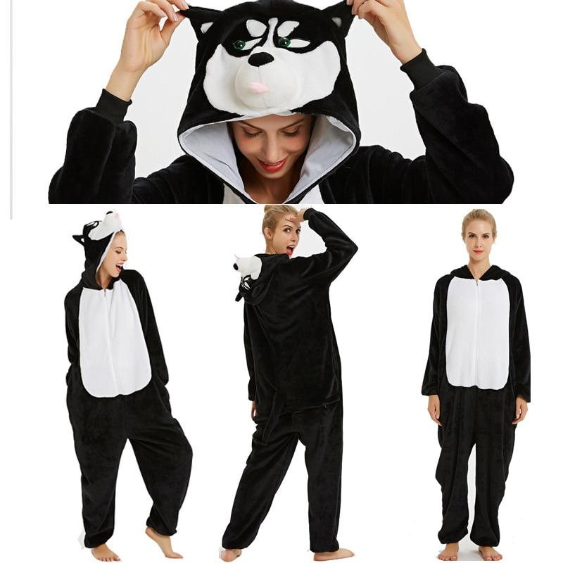 Pijamas Unisex adultos franela Navidad Animal onesies Stitch unicornio ropa de dormir unicornios conjuntos de pijamas Kugurumi mujeres hombres camisón invierno