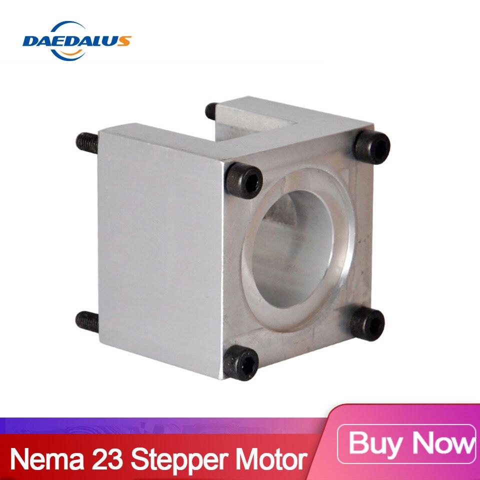 1 Uds Nema 23 paso a paso Accesorios de Motor soportes soporte para estante Nema23 paso abrazadera de montaje 57 soporte del Motor