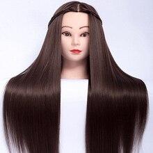 Cabeça de bonecas para penteados 65cm fibra cabelo manequim cabeça penteados feminino manequim cabeleireiro estilo formação cabeça
