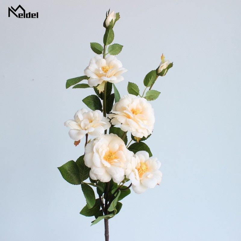 Meldel Artificial Flower Wedding Bouquet Bridesmaid Wedding Flowers Bouquets Silk Rose Flower Arrangement DIY Home Decoration недорого