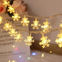 1 536m led snowflake string lights fairy garland decoration for christmas tree home indoor decoration battery operated garland
