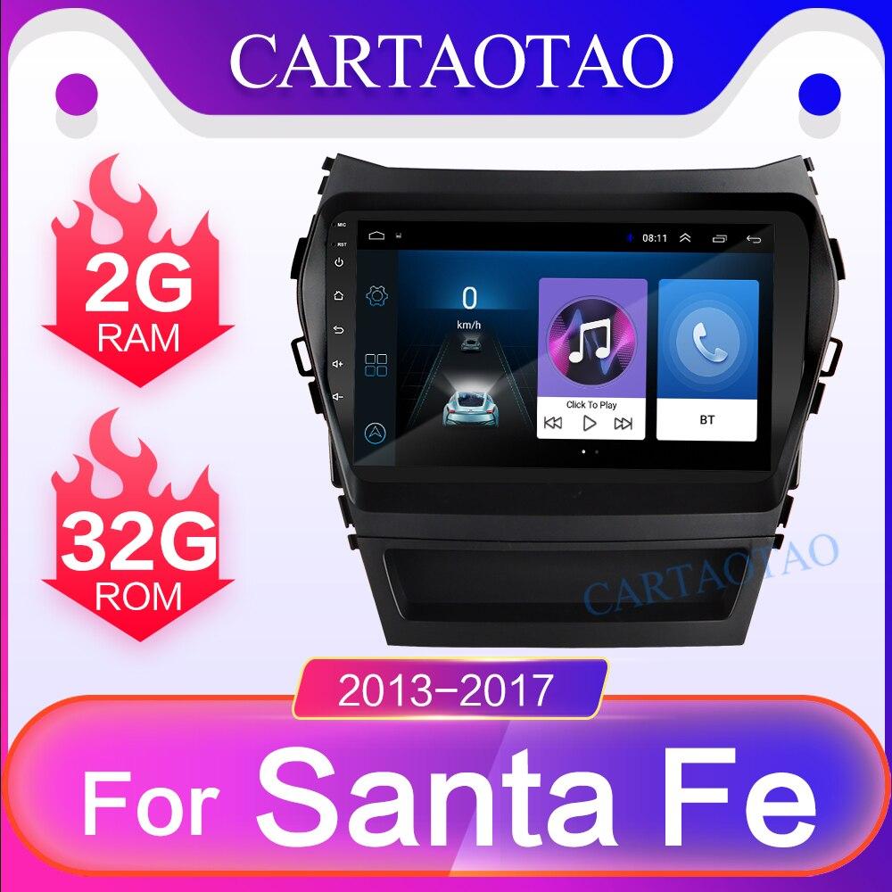 Android 8.1 GO RAM 2G+ROM 32G Car radio Player GPS Navigation Multimedia For Hyundai IX45 2013-2017 2 din gps Hyundai Santa Fe