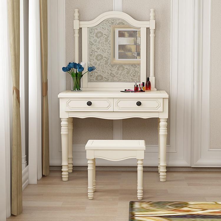 Роскошный светильник туалетный столик в европейском стиле, простой многофункциональный домашний туалетный столик, набор мебели для спальн...