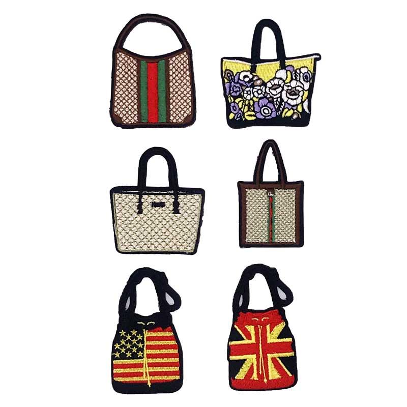 Patchs de sac brodés de mode mignon, Applique de bricolage, patchs de broderie, Patch de fer pour les vêtements