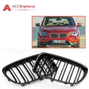 Для BMW X1 E84 Решетка переднего бампера двойная планка черная 2011-2015