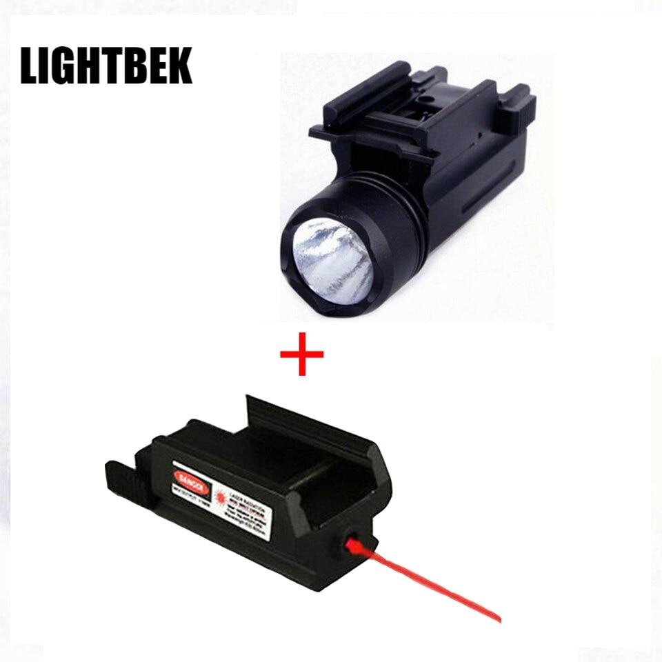 ¡Luces Tactics de Rifle de EE! UU Con láser rojo vista Glock...