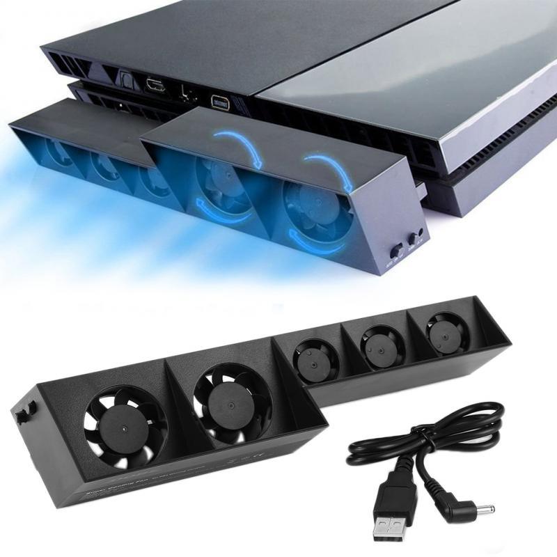 Ventilador de refrigeración externo para consola PS4, enfriador para consola PS4, USB,...