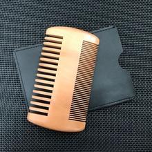 1PC Natural Wood Hair Brush Hair Comb For Men Beard Care Anti-Static Wooden Comb Brushing Hair Care