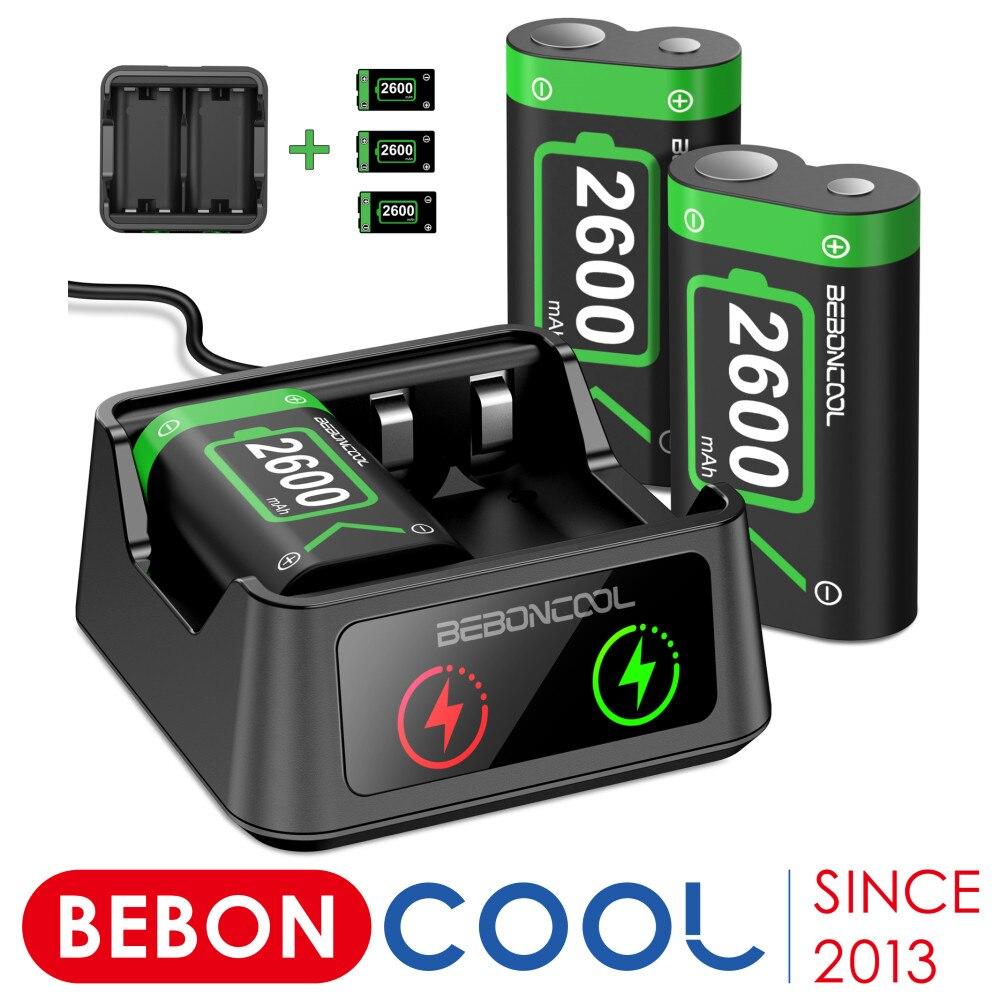 3 x2600mAh بطارية قابلة للشحن حزمة ل Xbox سلسلة X/S/Xbox One S/X/Xbox One وحدة تحكم لاسلكية بطارية USB شاحن بطارية