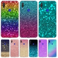glitter with sparkles bling phone case for xiaomi redmi note 10x 9 8 7 6 5 plus 4 4x pro 9c 9a 8a 7a s2 k40 k20 tpu back cover