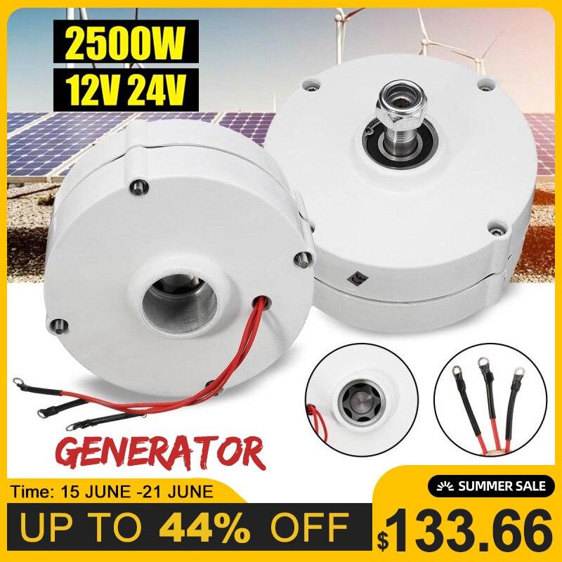 Rendement élevé efficace de moteur de générateur de vent de 2500W 12V 24V pour le contrôleur de lame de éoliennes de bricolage 3 courant de Phase PMSG