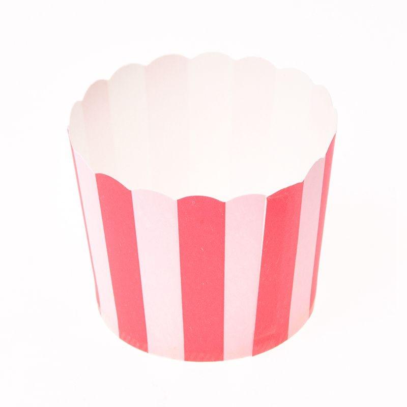 50X Cupcake emballage papier gâteau étui cuisson tasses Liner Muffin cuisine cuisson rouge rayures