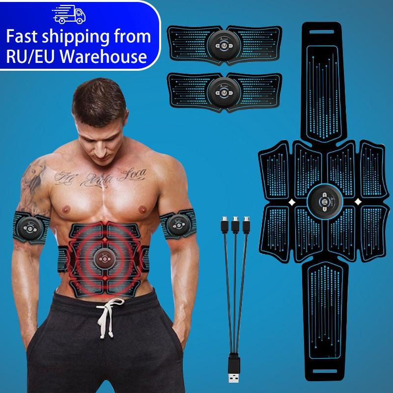 EMS Bauch Muscle Stimulator Trainer USB Verbinden Abs Fitness Ausrüstung Ausbildung Getriebe Muskeln Electrostimulator Toner Massage