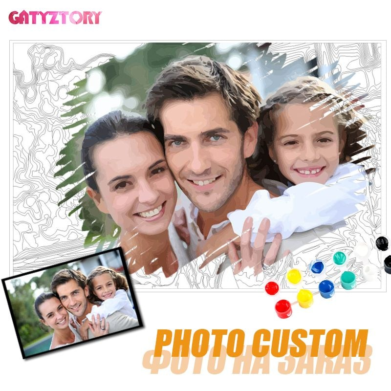 AliExpress - GATYZTORY Photo Custom Diy Painting By Numbers Personality Picture Customized Paint By Numbers Gift Acrylic Coloring By Numbers