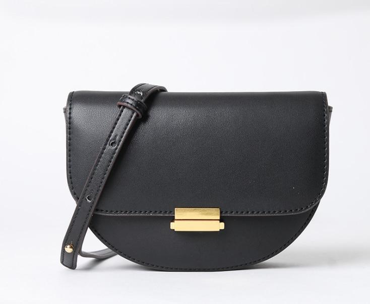 198 انقسام الجلود المرأة حقيبة بحزام الخصر حزم صغيرة السرج