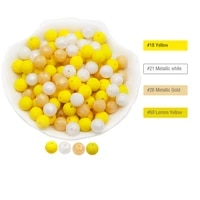 cute idea baby products 9mm silicone teether beads 30pcs chewing food grade diy for infant newborn nursing bpa free