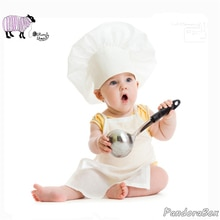 Tenues daccessoires de photographie pour nouveau-nés   Accessoires pour bébés petits garçons et filles, chapeau de Chef Photo, ensemble de vêtements pour enfants