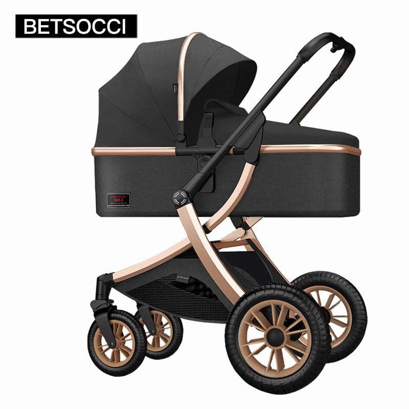 Baby stroller high landscape 2 in 1 stroller can sit and recline two-way shock absorber lightweight folding baby stroller