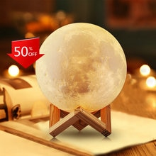 LED Night Light 3D Print Moon Lamp Rechargeable Color Change Creative Touch Switch Moon Light For Be