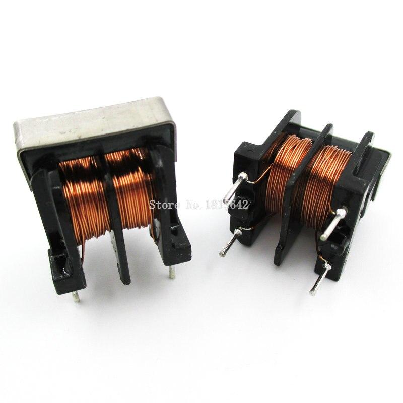 5 piezas UU10.5 UF10.5 10mH 20mH 30mHPitch 10*13mm de modo común Inductor estrangulador filtro inductancia de cobre alambre común inductores