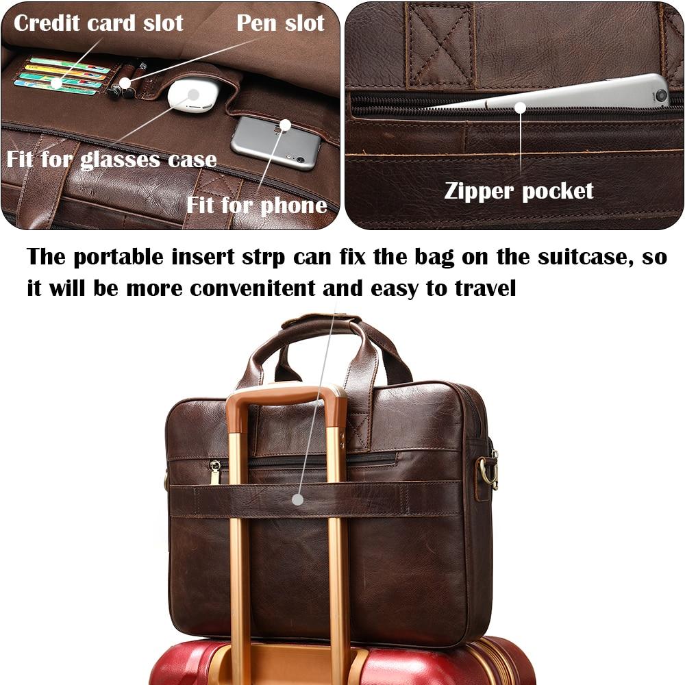Чоловіча шкіряна сумка чоловічі - Портфелі - фото 4