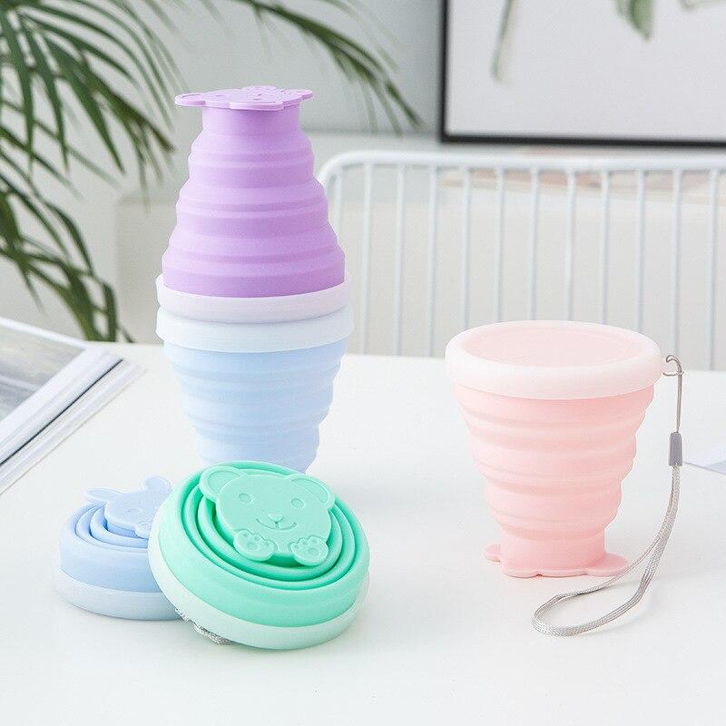 200 мл чашка для путешествий силиконовые выдвижные складные чашки телескопические складные кофейные чашки для спорта на открытом воздухе ча...