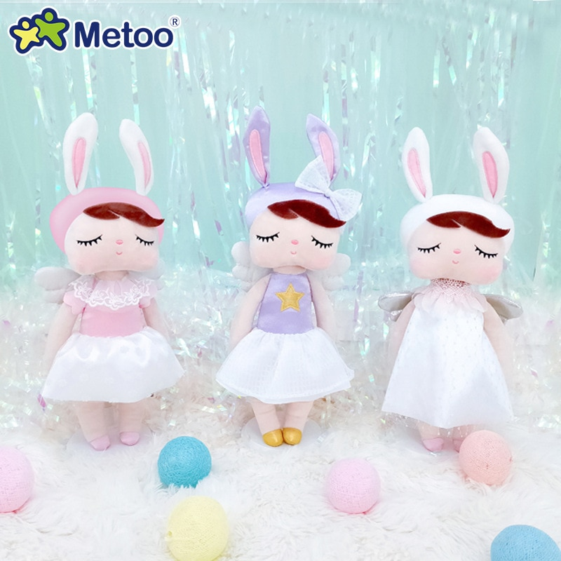 2020 Metoo Doll 35cm Angel Angela Beautiful Plush Bunny Doll Cute Ornaments Baby Stuffed Rabbit Toys Dolls for Kids Girls