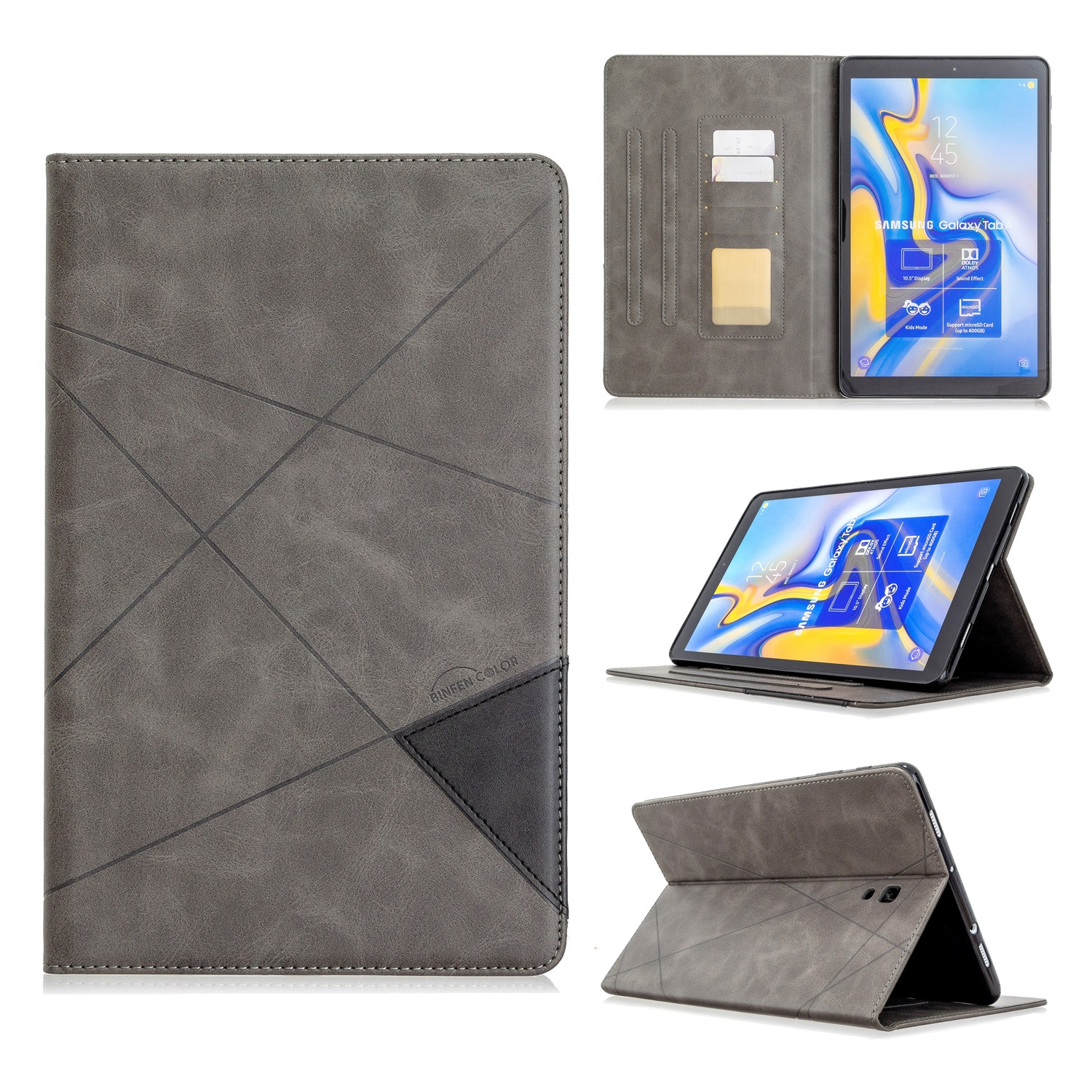 Galaxy Tab to sm-t590 t595 Tablet PC luxury leather case, 10.5-inch shockproof bracket, 10.5-inch enlarge