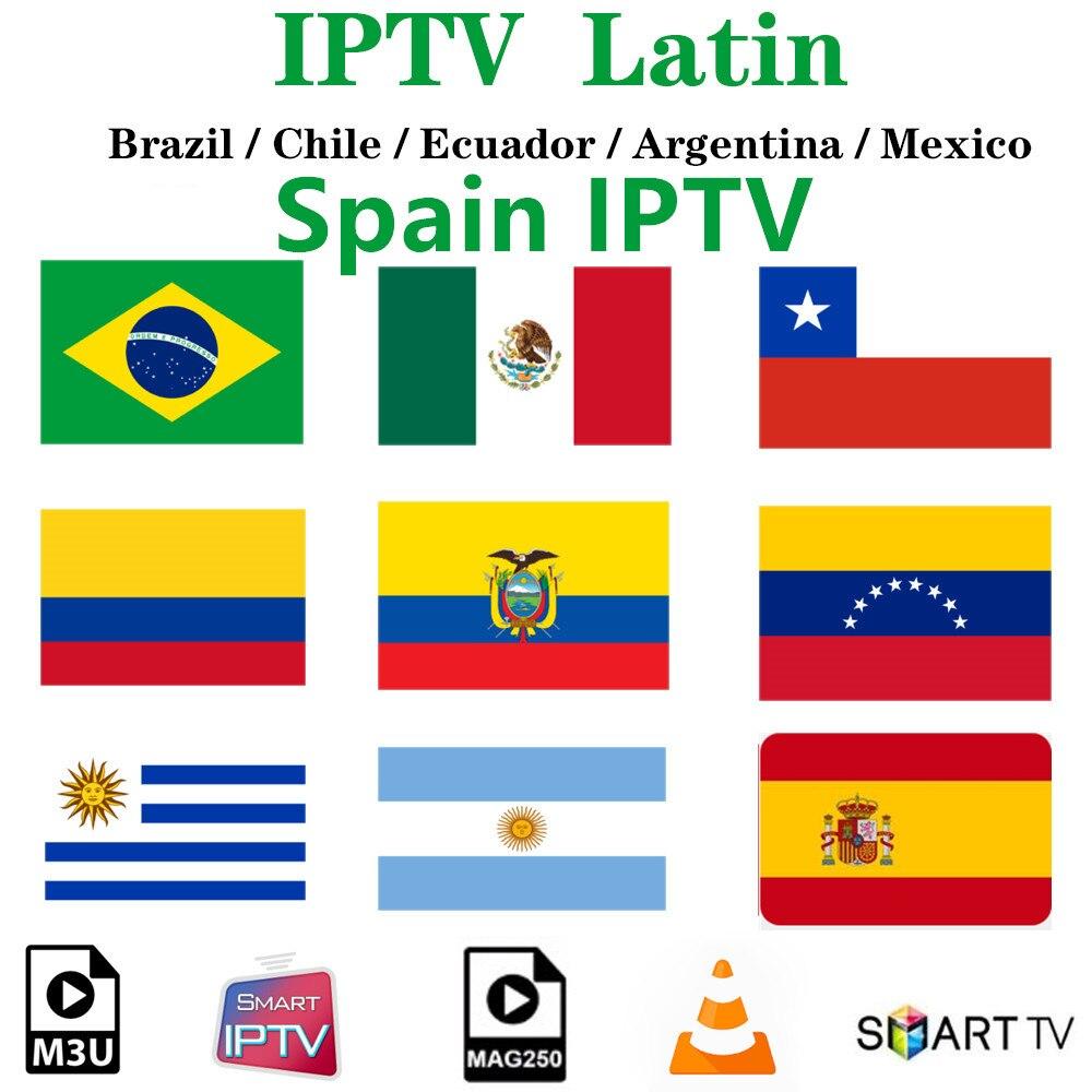 América Latina IPTV España Brasil IP TV M3u - H96 MAX Dispositivo de TV inteligente Android 9,0 2GB 16GB RK3318 2,4G/5G Wifi BT 4,0 RK Quad Core 4K