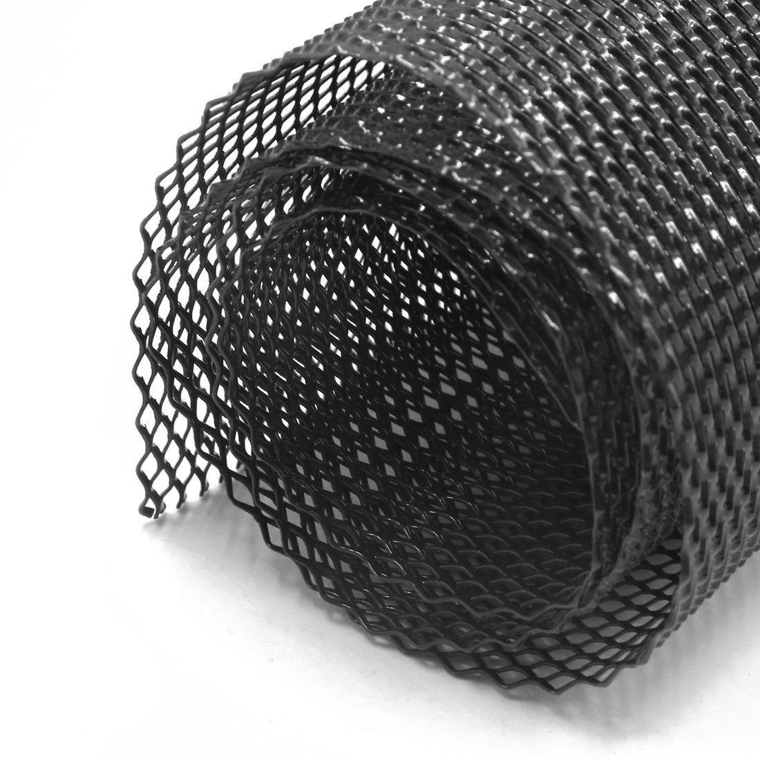 1 rolo 100x33cm carro malha grade rhombic para pára-choques corpo kit capa fender abertura do veículo automotivo radiator grills