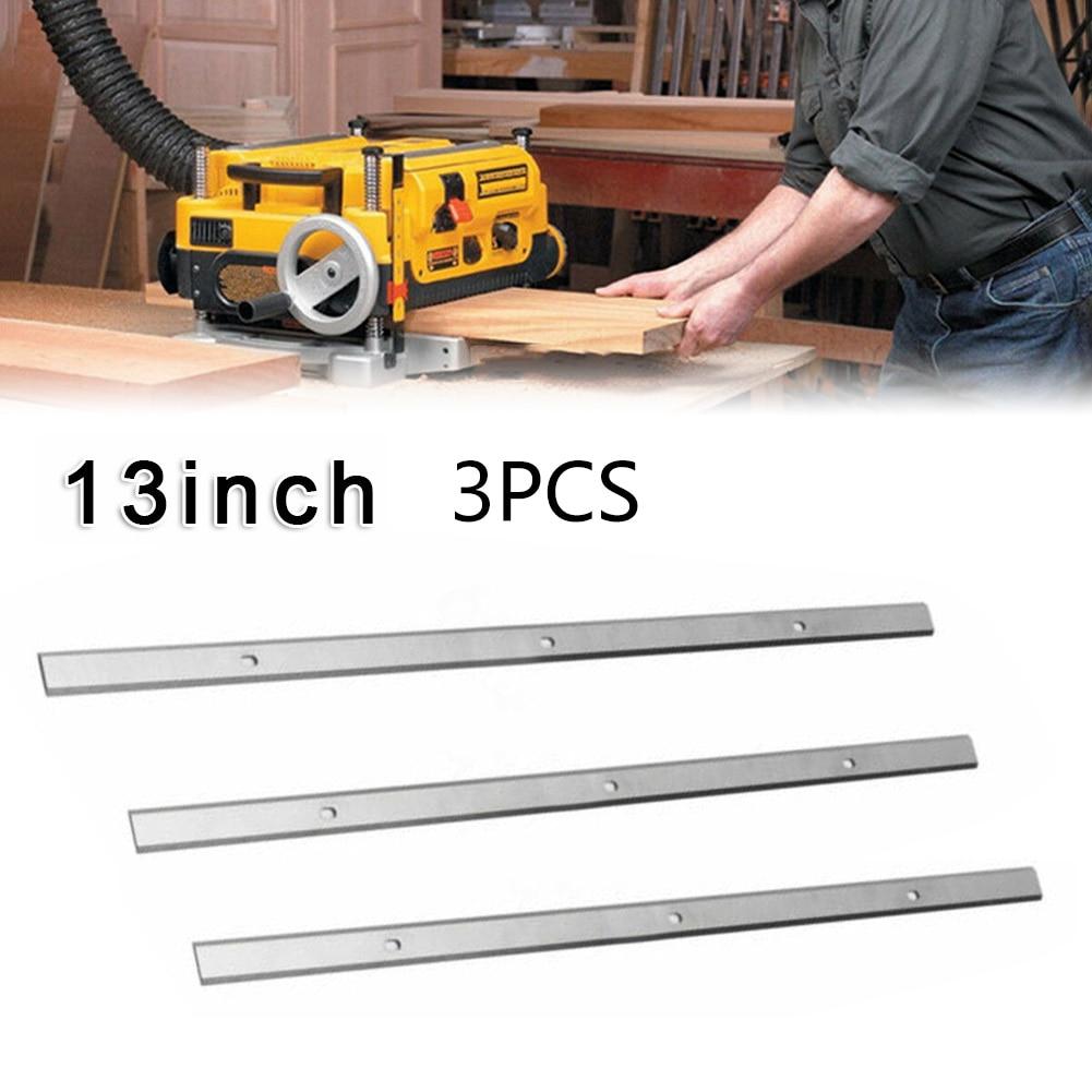 "3pc 13 ""-1/2 blades blades lâminas plaina elétrica para metabo dh330 dh316 hss borda dupla acessórios de ferramenta para trabalhar madeira 330.2x12.7x1.5mm"