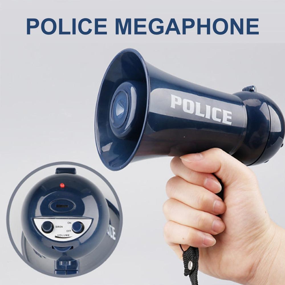 Имитация полицейского, Мегафон, ролевая игра, искусственная сирена, Мегафон, ролевая игра, игрушка для костюмов, вечеринок