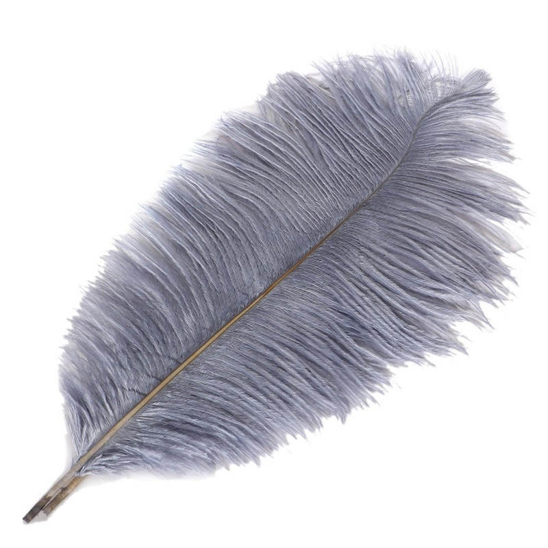10Pcs/Lot Gray Ostrich Feather for Crafts 15-70cm/6-28 Grey Feathers Plumes Wedding Decoration Carnaval Plumas