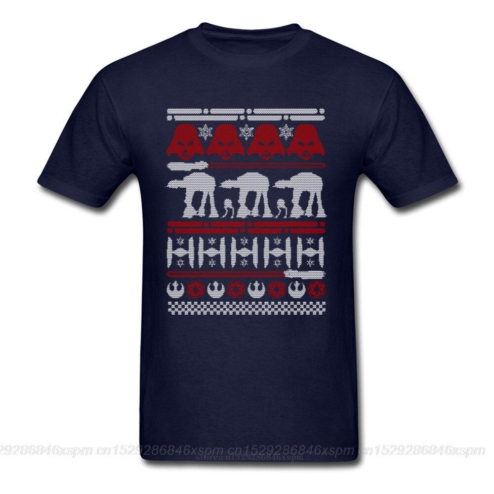 Camiseta de hombre one yona Christmas On Hoth, camiseta de Star Wars At-At, Camiseta estampada de manga corta 100% algodón con descuento, venta al por mayor