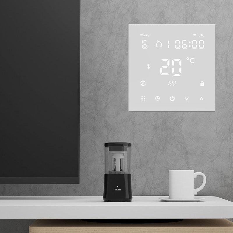 Tuya واي فاي الذكية ترموستات تحكم في درجة الحرارة التبديل للكهرباء التدفئة الكلمة ، المياه/الغاز المرجل صوت عبر جوجل المنزل