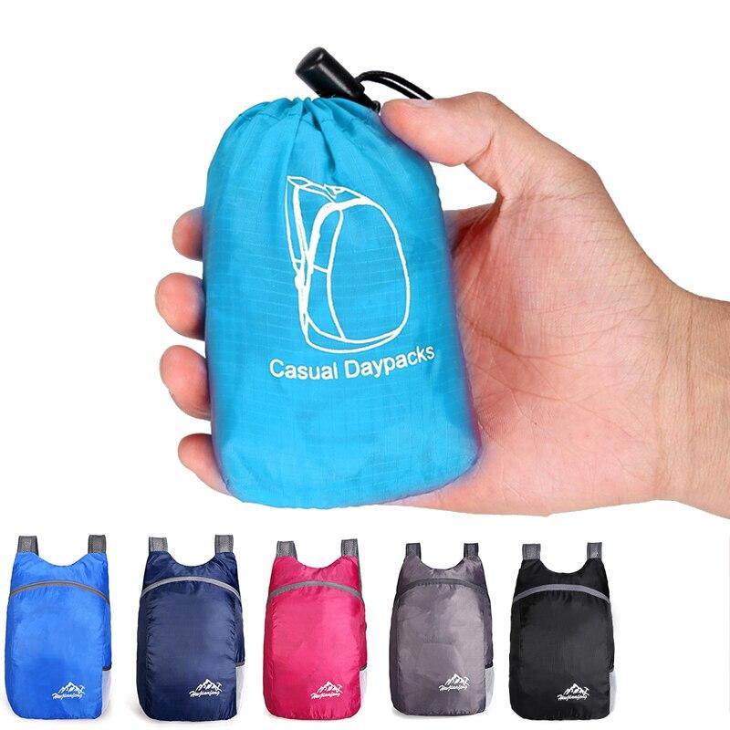 Mochila plegable ultraliviana de 20L, práctica mochila de viaje plegable para exteriores, mochila de viaje nano, mochila para hombres y mujeres