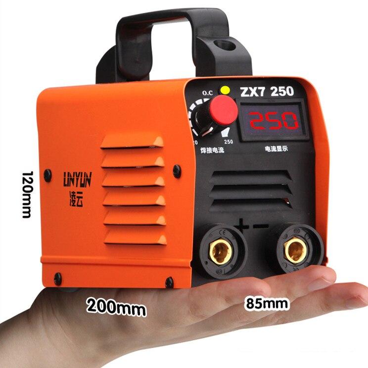 250a 110-250 v led display máquina de solda compacto mini mma soldador inversor de soldagem semiautomática