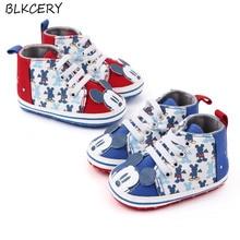 Fashion Brand Newborn Baby Shoes Cute Cartoon Boy Canvas Shoes First Walkers Soft Sole Baby Girl Sho