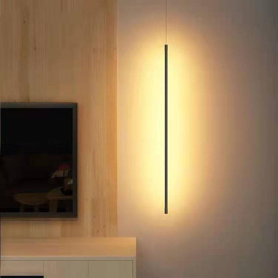 الحديثة الحد الأدنى نوم السرير قلادة LED ضوء غرفة خلفية شريط طويل مصابيح متدلية الفاخرة خط طويل معلق
