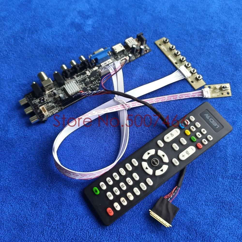 صالح LP140WH2-TLTA/TLTB/TLQ1/TLQ2 40 دبوس LVDS 3663 التلفزيون الرقمية شاشة 1366*768 ترقية AV VGA USB DVB LCD محرك مجلس DIY عدة