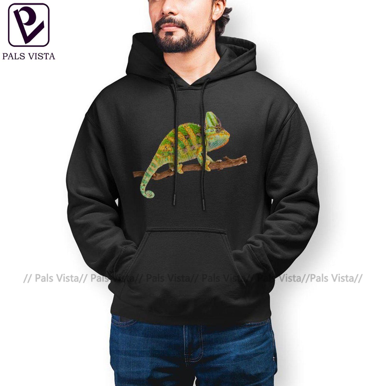 Осенние толстовки с капюшоном в стиле хамелеон, хлопковый Свободный пуловер, толстовка с капюшоном, длинная модная мужская Толстовка XL