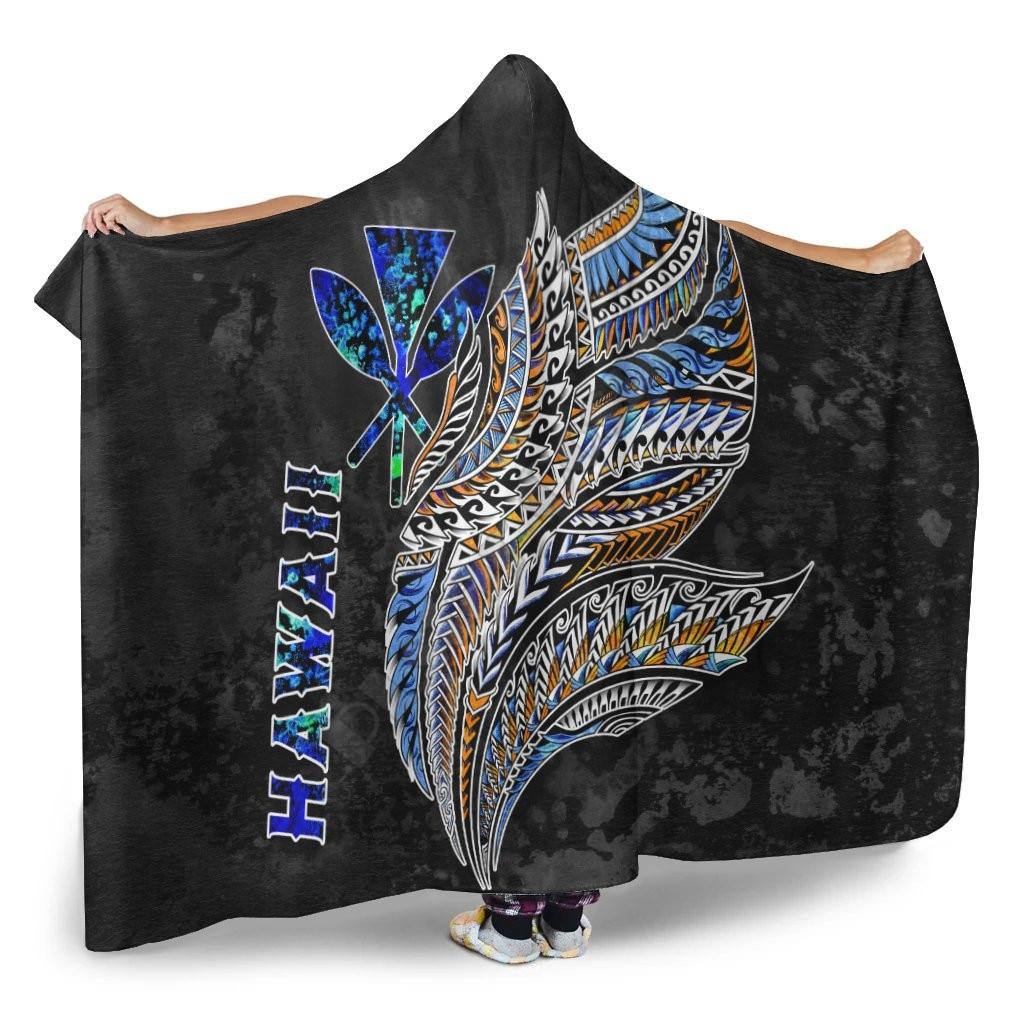 بولينيزيا هاواي مقنعين بطانية أجنحة بولينيزية ثلاثية الأبعاد المطبوعة لبس بطانية الكبار الاطفال مقنعين بطانية