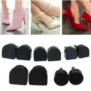 60pcs/lot Women's High Heel Tips Taps Dowel Lifts Replacement Heel Stoppers Protector Lady Stiletto Shoe Heels Repair Tips