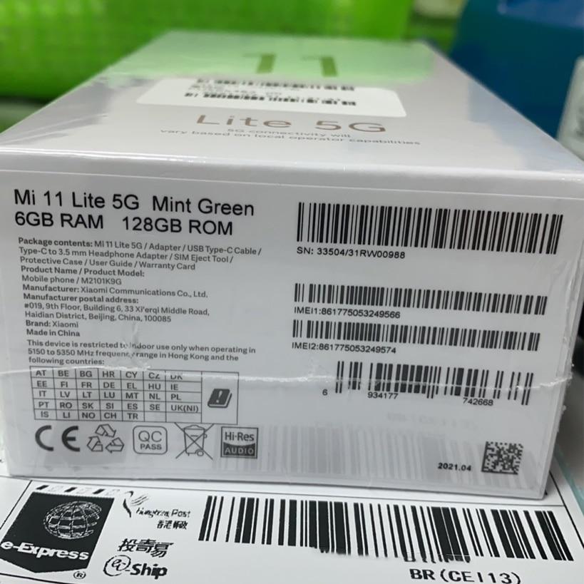 Global 5G Version Xiaomi Mi 11 Lite Smartphone RAM6GB+ ROM128GB Snapdragon 780G AMOLED Full Screen 64MP 4250mAh Battery With NFC enlarge