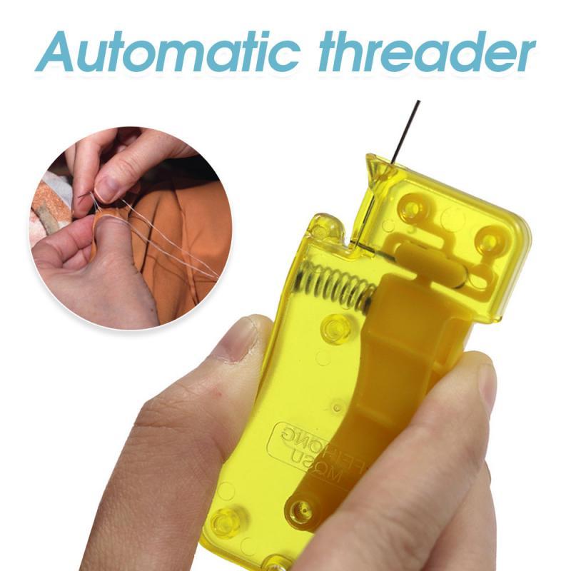 Enhebrador de aguja automático, dispositivo para aguja de coser, herramienta DIY, piezas...