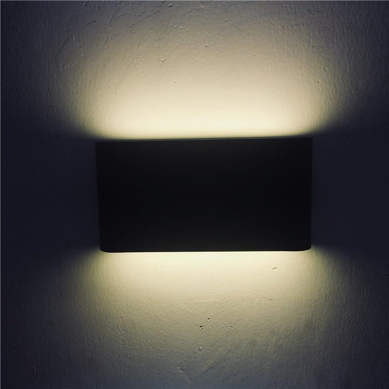 LED outdoor waterproof wall lamp square ultra-thin double-headed exterior wall corridor lamp balcony pillar light 6w