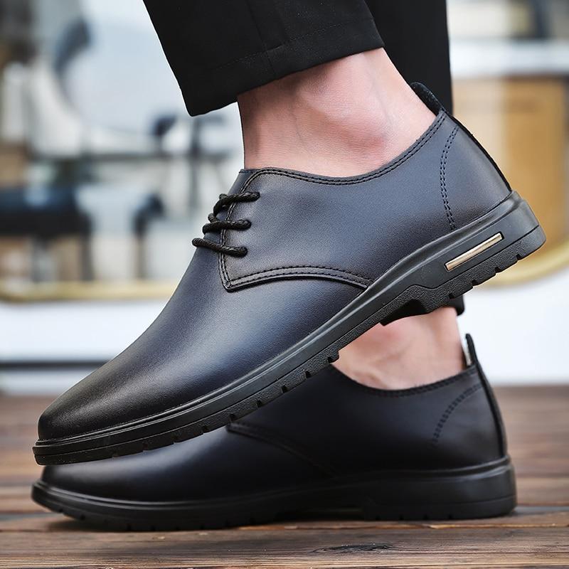 Hombre masculino piel negro oxford clásico retro hombre zapatos vintage formal genuino...