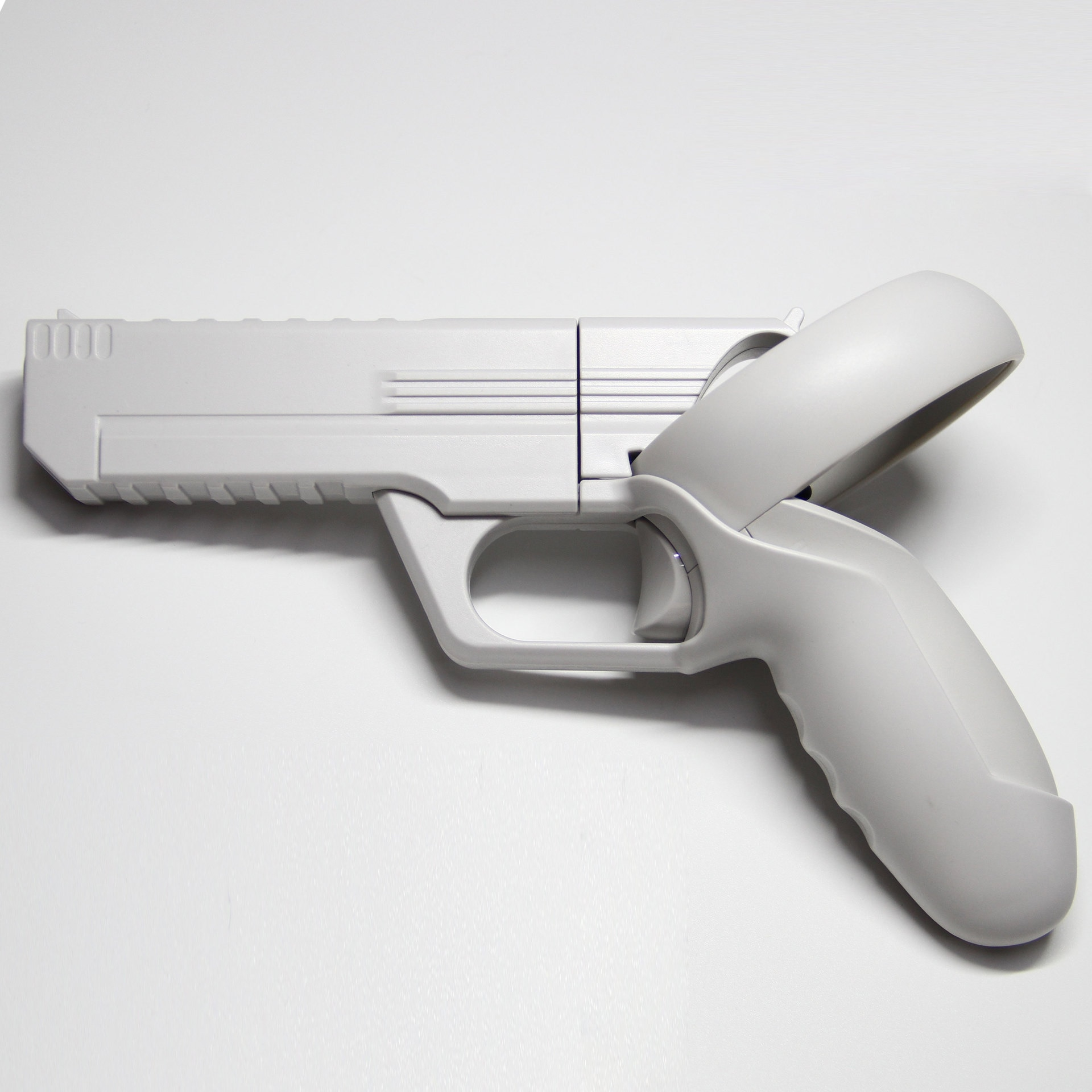 VR Game Gun for Oculus Quest 2 Controllers Pistol Case, Enhanced FPS Gaming Experience -Compatible with Pistol Whip VR Game enlarge