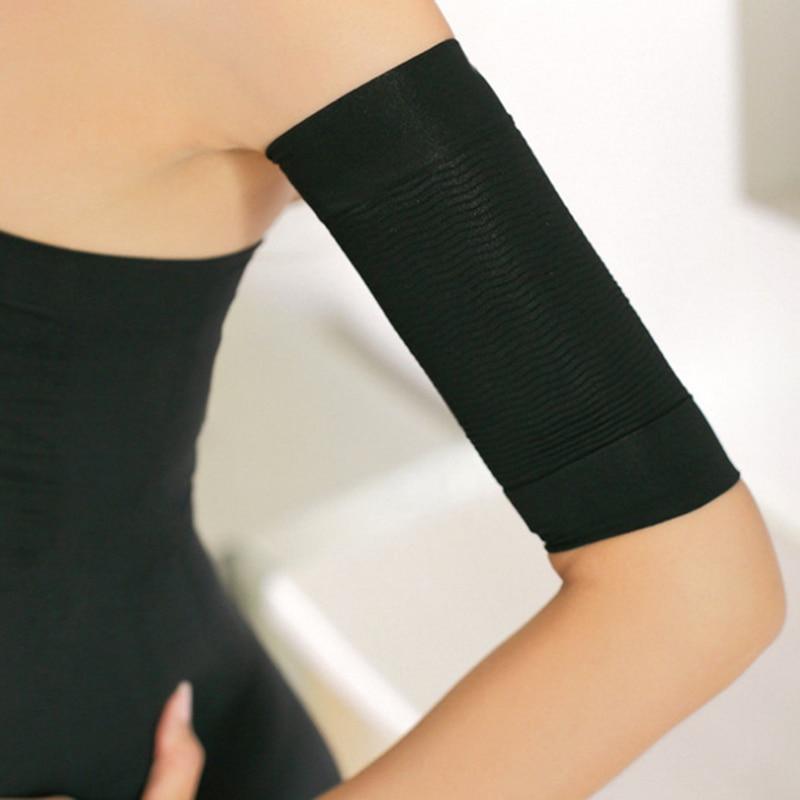 1 par braço superior shapers feminino fino verão aquecedores de braço elástico emagrecimento compressão perder peso braço shaper proteger aquecedores de braço