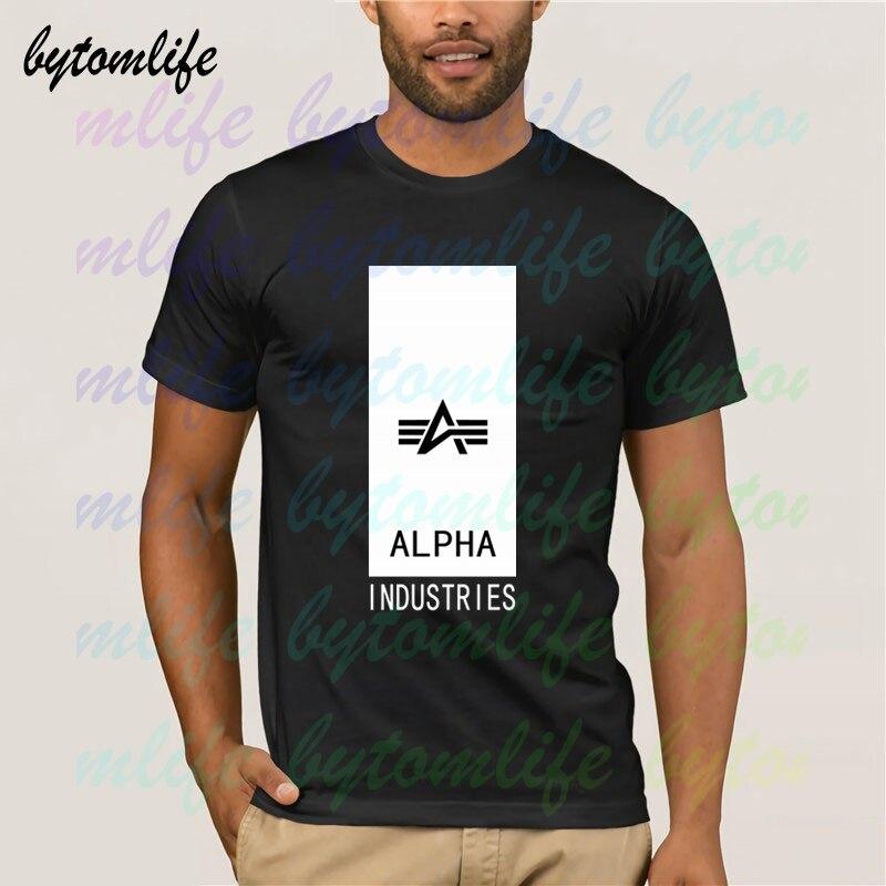 Alpha industries bloco logo camiseta masculina verão 100% algodão da equipe t masculino mais novo topo popular normal camisetas unisex